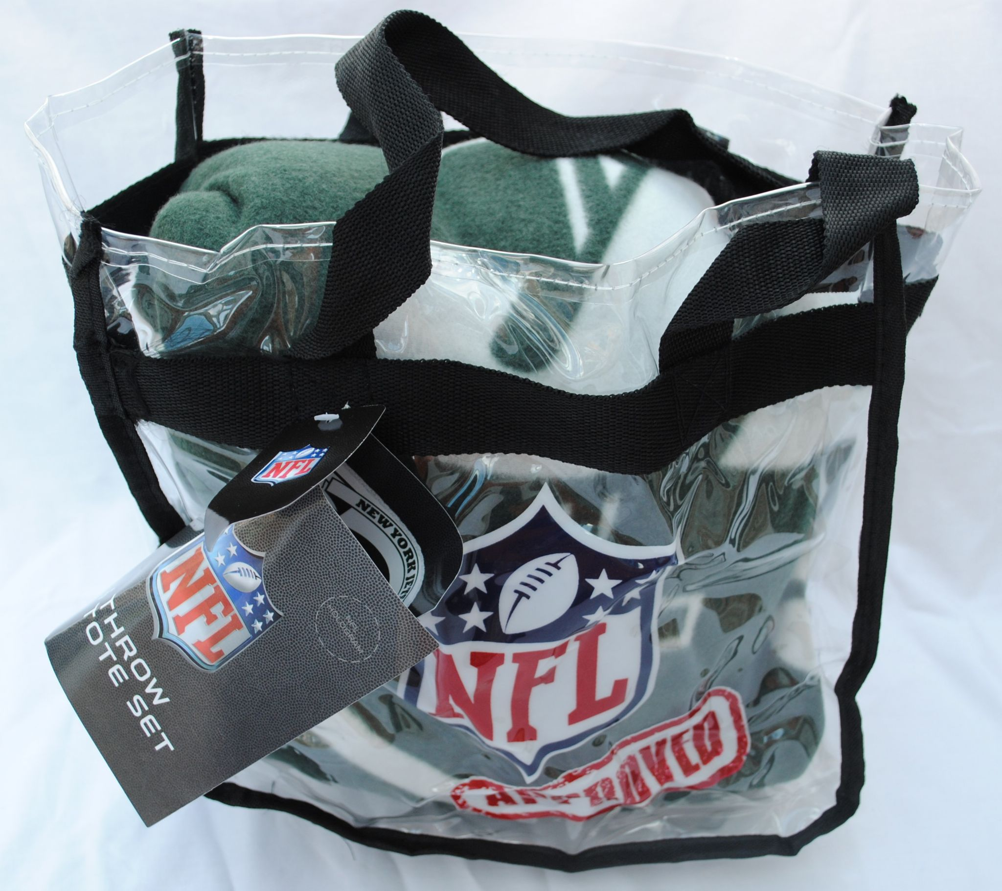 New York Jets Fleece Throw Blanket, Marquee Design with NFL Approved Clear  Tote Bag